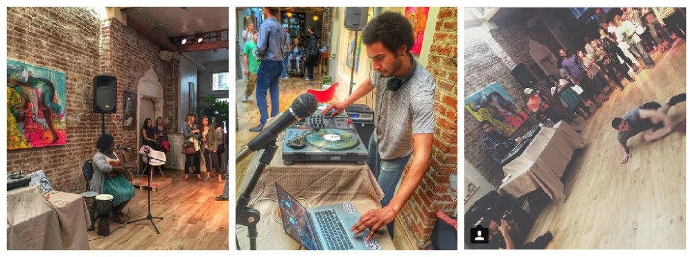 (Left to Right: Edem Kegey; DJ Kethro; Awesome breakdancing)